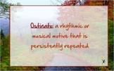Fall Themed Orff Ostinato Lesson with PPT