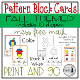 Fall Themed Pattern Block Cards