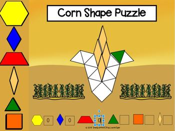 Fall Themed Pattern Block Shape Puzzle Activities For GOOGLE CLASSROOM