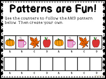 Fall Themed Patterns for Math Centers