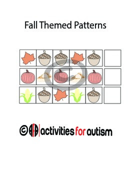 Fall Themed Patterns w/ ABA style emphasis