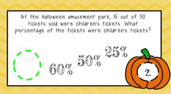 Digital Percent Word Problems Google Activity |Fall Themed|