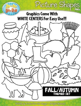Fall Picture Shapes Clipart {Zip-A-Dee-Doo-Dah Designs}
