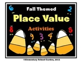 Fall Themed Place Value Activities - Comparing, Ordering and Writing Numbers