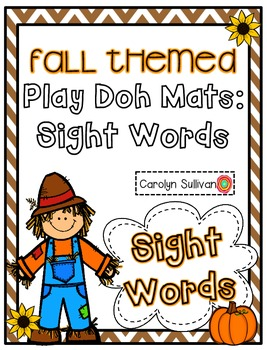 Fall Themed Play Doh Mats- Sight Words (100 Fry