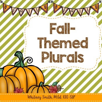 Fall-Themed Plurals Freebie