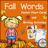 Fall Themed, Pocket Chart Cards, Writing Activities, Fall Activities