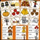 Fall Themed, Pocket Chart Cards, Writing Activities, Fall Activities