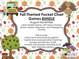 Fall Themed Pocket Chart Games for Kindergarten BUNDLE