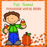 Fall Themed Positional Words Bingo