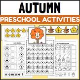 Fall Themed PreK and Kindergarten Art, Math and ELA Center