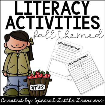 Fall Themed Print & Go Literacy Activities
