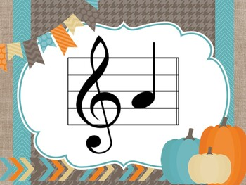 Fall Themed Projectable Note Identification Flashcards Treble Clef