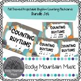 Fall Themed Digital Rhythm Counting Flashcards Bundle Set