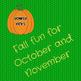 Fall Themed Pumpkin Gross Motor Game