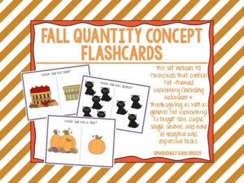 Fall - Themed Quantity Concept Flash Cards