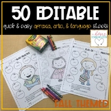 Quick and Easy Speech & Language Sheets - FALL
