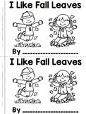 Fall Read & Write High Frequency / Sight Word Mini-book