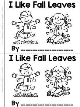 Fall Read & Write High Frequency / Sight Word Mini-book