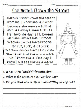 Fall Themed Reading Passages *JUST PRINT & TEACH!*