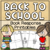 Back to School Book Reponse Printables