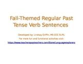 Fall-Themed Regular Past Tense Verb Sentences