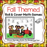 Fall Themed Roll & Cover Addition & Subtraction Games!