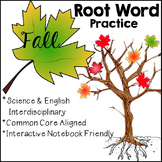Fall and Thanksgiving Inspired Root Word Practice