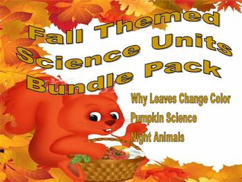 Fall Themed Science Units Bundle Pack