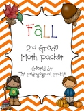 Fall Themed Second Grade Math Packet