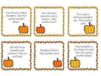 Fall Themed Semantics/Vocabulary Game