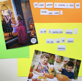 Fall-Themed Sentence Building Activity