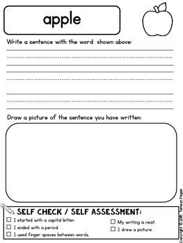 Fall Themed Sentence Writing Booklet FREEBIE