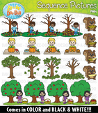 Fall Sequence Action Pictures Clipart {Zip-A-Dee-Doo-Dah Designs}