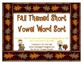 Fall Themed Short Vowel Word Sort