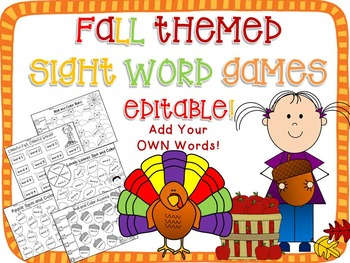 photograph regarding Sight Word Games Printable named Tumble Sight Phrase Printable Online games Editable!