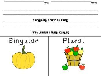 Fall Themed Singular and Plural Noun Sort