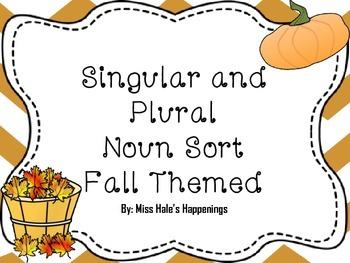 Fall Themed Singular and Plural Noun Sort