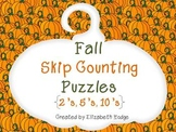 Fall Themed Skip Counting Puzzles