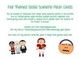 Fall Themed Social Scenario Flash Cards