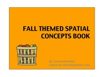Fall Themed Spatial Concepts Book