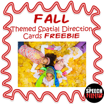 Fall Themed Spatial Direction Cards Freebie