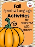 Fall Themed Speech & Language Activities: For Students With Autism
