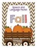 Fall Themed Speech and Language Packet
