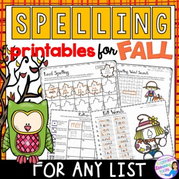 Spelling Activities and Practice for Fall to fit any word list