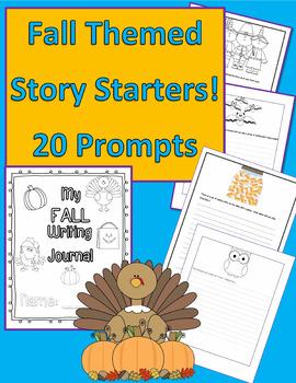 Fall Themed Story Starters Writing Set