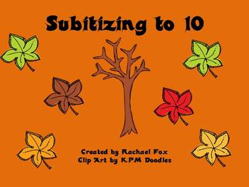 Fall Themed Subitizing to 10