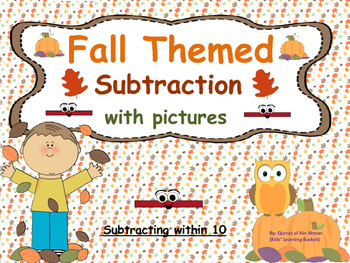 Fall Themed Subtraction with Pictures (within 10):