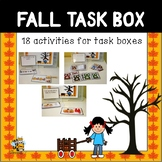 Fall Themed Task Boxes for Preschool, PreK, Kindergarten, and Special Education