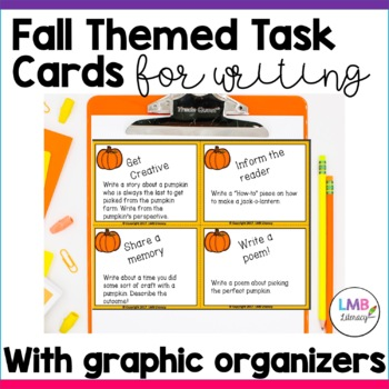 Fall Themed Task Cards~40 Cards in all~With 4 Graphic Organizers!